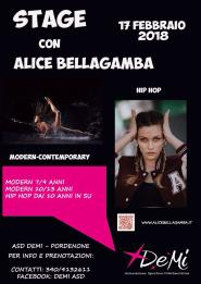 Locandina stage con Alice Bellagamba